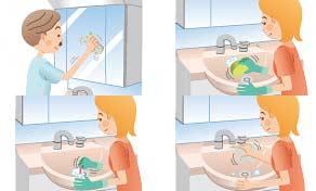 洗面室の掃除