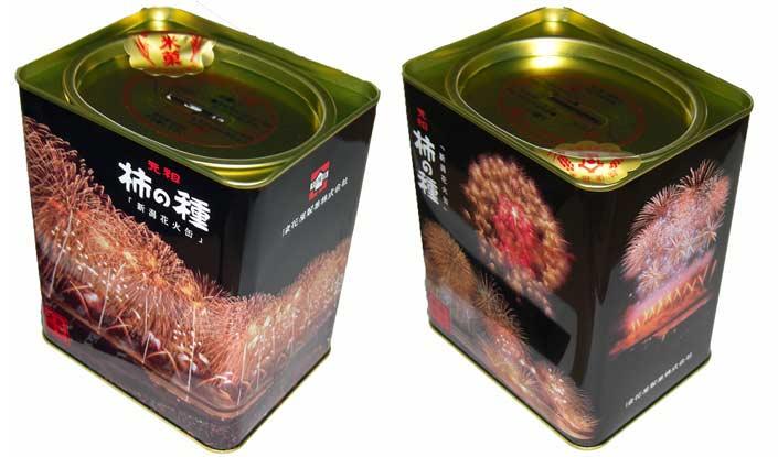 元祖柿の種花火缶